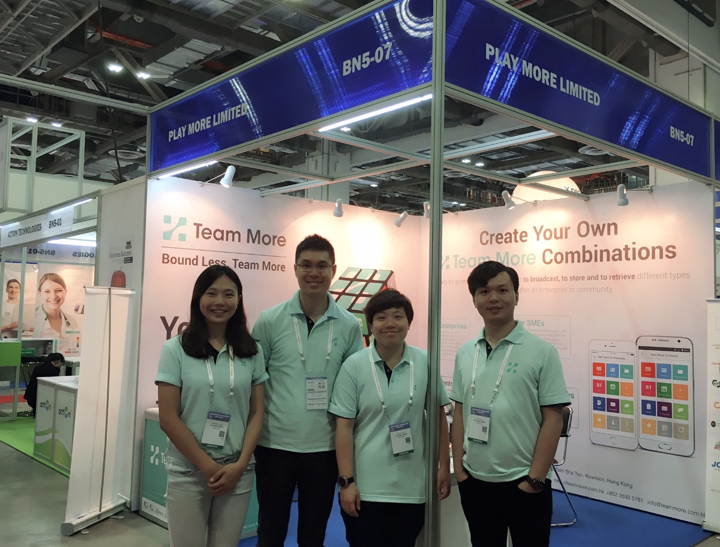 Team More exhibits at the CommunicAsia Singapore